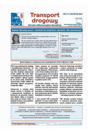 Transport drogowy. Aktualne informacje prawne i wskazówki dla eksporterów, importerów i firm przewozowych. Nr 11/2014