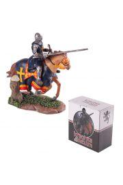 Rycerz na koniu z kopią