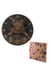 Zegar �cienny z kotem tarocist�
