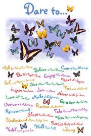Odważ się - plakat motywacyjny