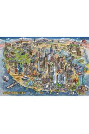 Nowy Jork Symbole Miasta Maria Rabinky - plakat