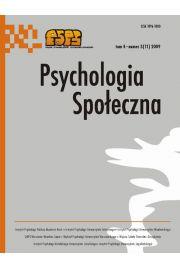 Psychologia Społeczna nr 3(11)/2009