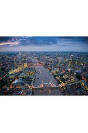 Londyn Nocą - Tamiza - plakat