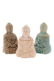 Ceramiczny kominek do aromaterapii z pokrywk� Siedz�cy Budda