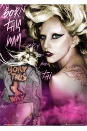 Lady Gaga born this way - plakat 3D
