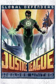 DC Comics Liga Sprawiedliwych Obro�cy Ziemi - plakat