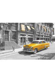 Nowy Jork Stara Taksówka - plakat
