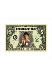 Scarface Człowiek z blizną - dollar bill - reprodukcja