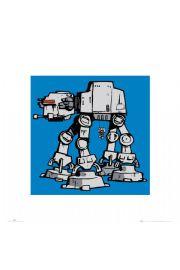 Gwiezdne Wojny Star Wars at-at - reprodukcja