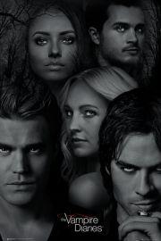 Pamiętniki Wampirów Twarze The Vampire Diaries - plakat
