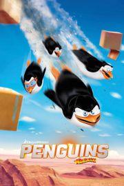 Pingwiny z Madagaskaru Desant - plakat