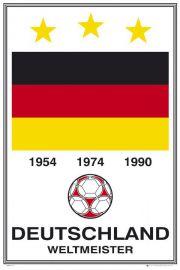 Niemcy Mistrzowie Świata - Piłka Nożna - plakat