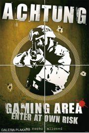 Zakaz Wstępu - Pokój Gracza - Achtung - plakat