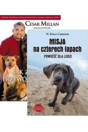 Zestaw 2 ksi��ek Jak zosta� przyw�dc� stada - Cesar Millan + Misja na czterech �apach