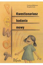 Kwestionariusz badania mowy - Billewicz Gra�yna, Zio�o Brygida