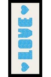 LOVE - Rama drewniana czarna 76,5x30,5 cm