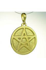Pentagram pełny, pozłacany