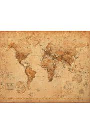 Polityczna Mapa �wiata w Starym Stylu - plakat