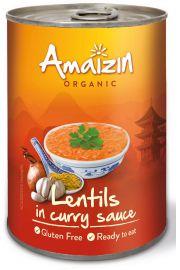 Soczewica W Sosie Curry (Puszka) Bio 420 G - Amaizin
