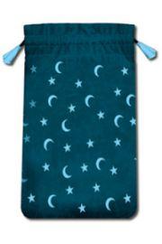 Aksamitny woreczek Księżyc i Gwiazdy - mini (na karty tarota)