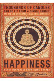 Budda - Szczęście - plakat motywacyjny