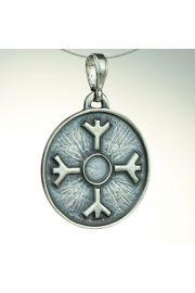 Amulet Ochronny Algiz, srebro