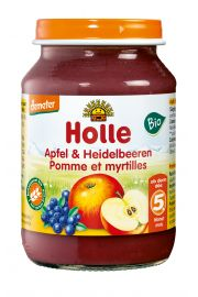 Deser jabłko / czarna jagoda słoik 190g*HOLLE*BIO