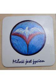 Podkładka pod kubek ze Znakiem Miłości