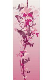 Różowy Kwiat z Motyli - plakat