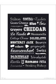 Cheese Types - art print
