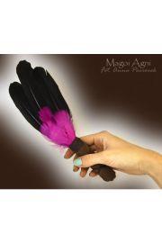Pióra do rytuałów czarno-purpurowe