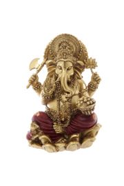 Statuetka Złoto Czerwony Ganesh 16cm