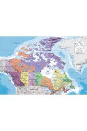 Mapa Kanady - plakat