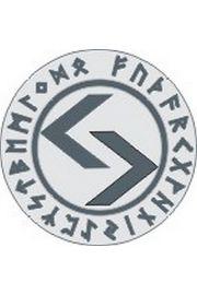 Runa Jeran 5 cm - amulet na lustrze