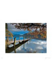 Piękna Jesień Pomost nad Jeziorem - reprodukcja