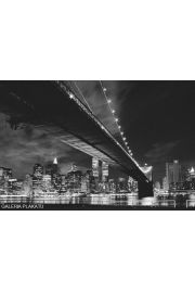 Nowy Jork - Manhattan night - plakat