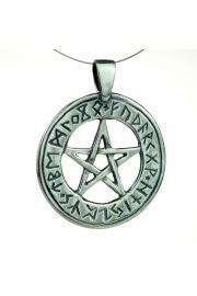 Pentagram runiczny, srebro