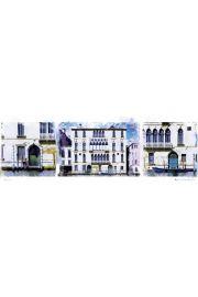 Kanały Wenecja - Włochy - plakat