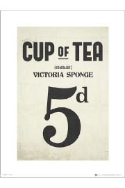 Cup of Tea Victoria Sponge - art print