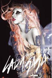 Lady Gaga Pomarańczowe Włosy - plakat