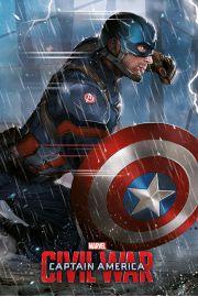 Kapitan Ameryka Wojna Bohaterów - plakat