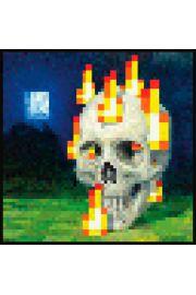 Minecraft Płonąca Czaszka - plakat