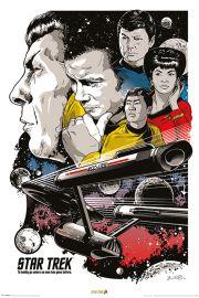 Star Trek Boldly G 50ta Rocznica - plakat