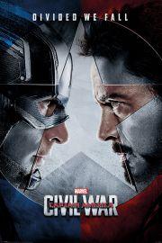 Kapitan Ameryka Wojna Bohaterów - Twarzą w Twarz - plakat