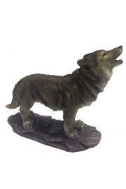 Dekoracja z wyjącym wilkiem