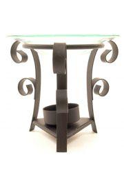 Metalowa podstawka pod świeczki na 3 nogach na trójkątnej podsta
