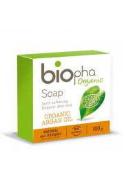BIOpha, Mydło naturalne bogate w olej Arganowy, 100g