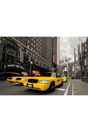 Nowy Jork Hard Rock Cafe i Żółte Taxi - plakat