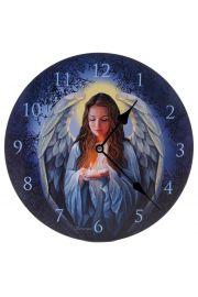 Zegar ścienny z nadrukiem - anioł