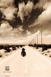 Route 66 - Motocyklista - plakat